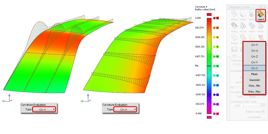 Surface Curvature Evaluation
